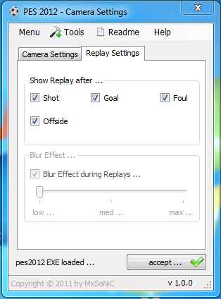 PES 2012 Camera Settings 1.1.0