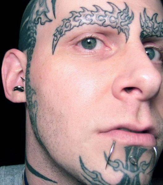 Tatuaże na twarzy 23