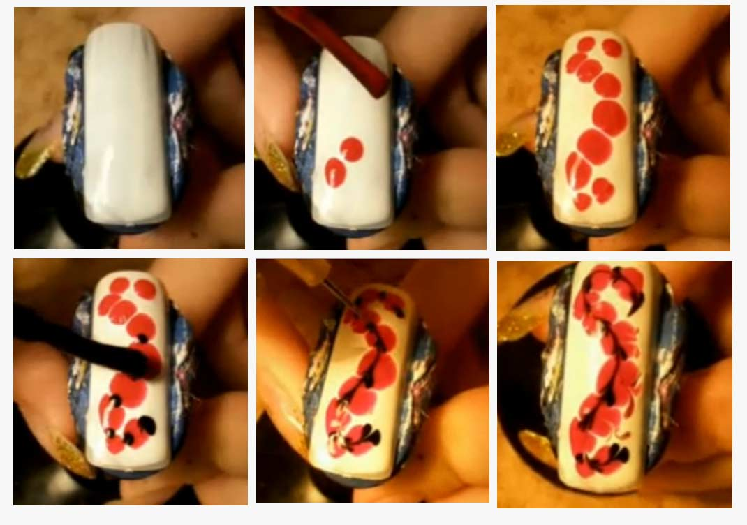 Сделать рисунки на ногтях