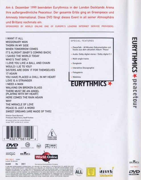 Eurythmics - Peacetour (1999) DVD5