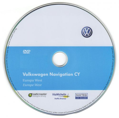 Volkswagen Navigation Western Europe v8 CD 7690