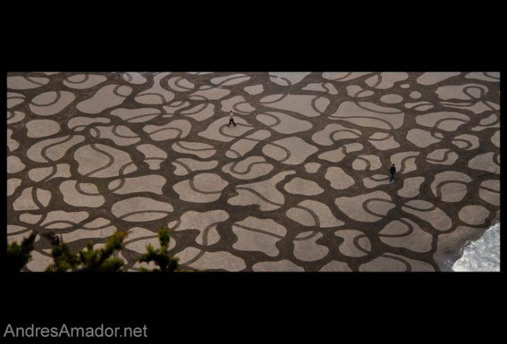 Land art na plaży 15