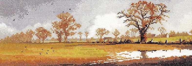 Техника: Счетный крест (Counted Cross Stitch).  В составе набора: 27/28 count Zweigart-Linda молочного цвета...