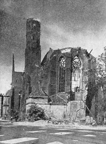 Wrocław  1945 Zniszczenia 5