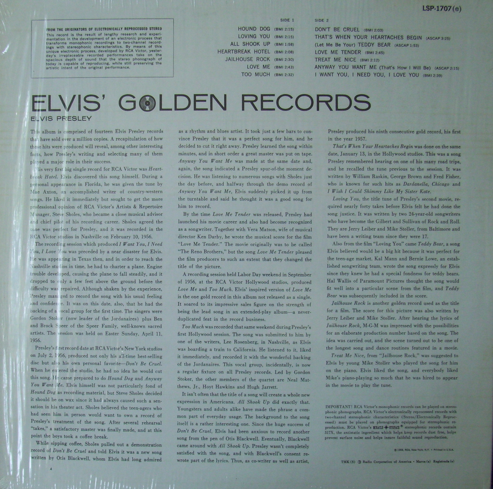 ELVIS' GOLD RECORDS  Hm5u6fv7