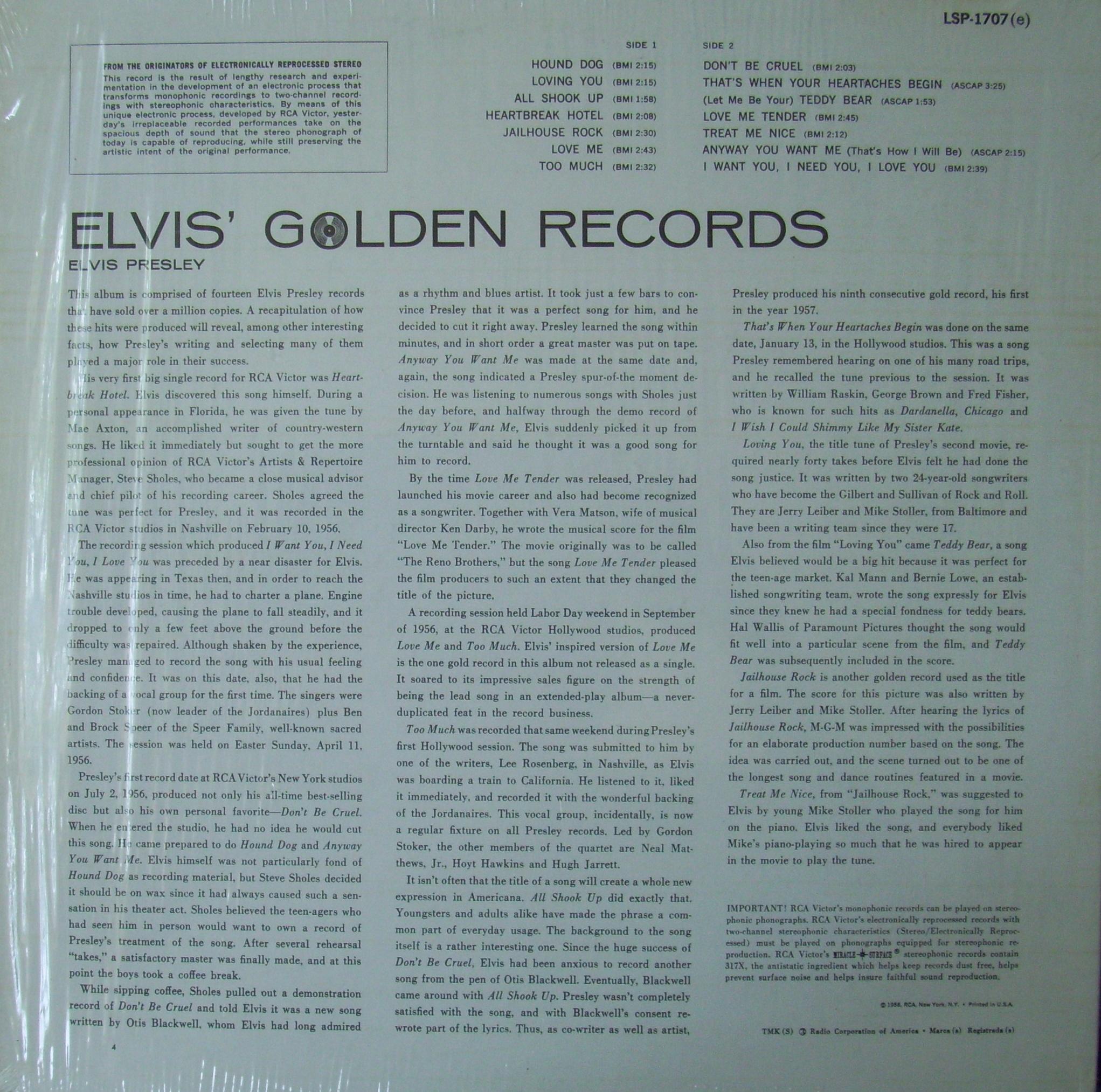 ELVIS' GOLD RECORDS  Hm5u6fv7