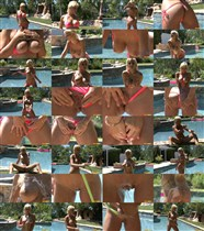 Lexi Swallow - Peach G-string & Water Hose - BikiniRiot - (2012/HD/720p/265 Mb)