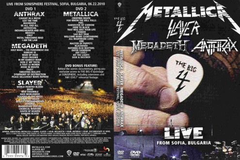 The Big 4 - Metallica, Slayer, Megadeth, Antrax - Sonisphere Festival  Live (2010) 2xDVD9