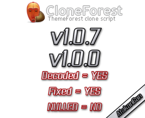 Themeforest – Cloneforest DECODED + FIXED + NULLED