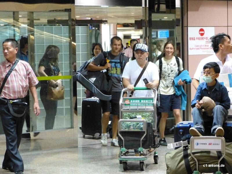 Franz und Rebekkas Ankunft in Taiwan