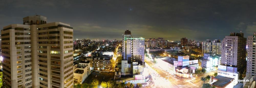 Aussicht auf Taichung bei Nacht