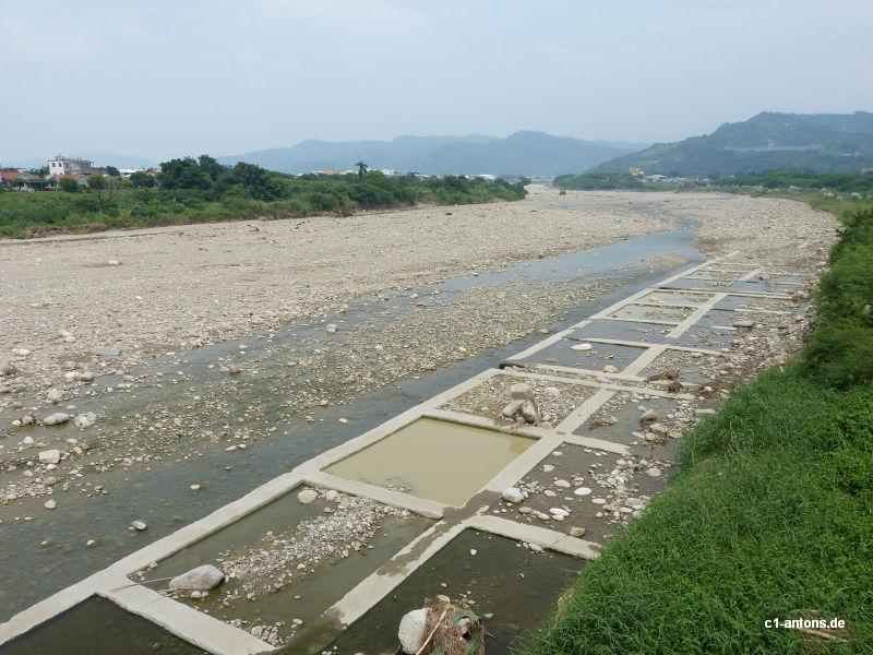 Taifunauswirkung in Taiwan