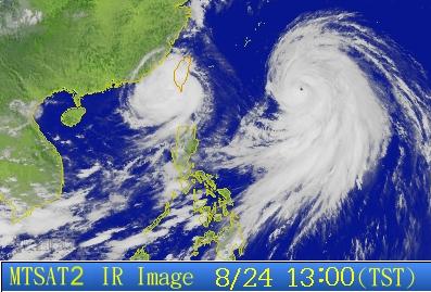 Taifune Tembin und Bolaven