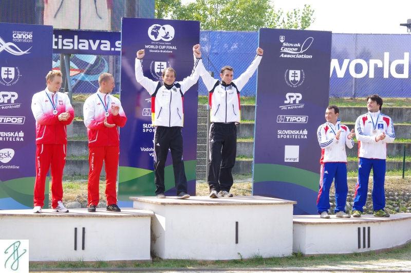 Franz und Jan nach ihrem Weltcup Sieg
