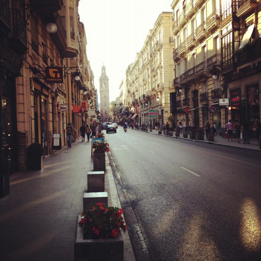 Typische Straße in Valencia
