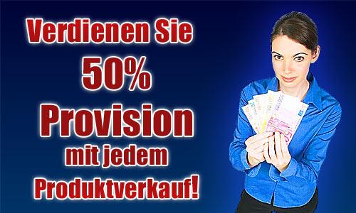 50 Prozent Provision mit Produktverkauf verdienen