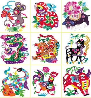 Знаки китайского гороскопа (вышивание крестом, схемы) .