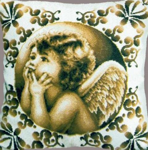 Схемы вышивки ангелов на подушках