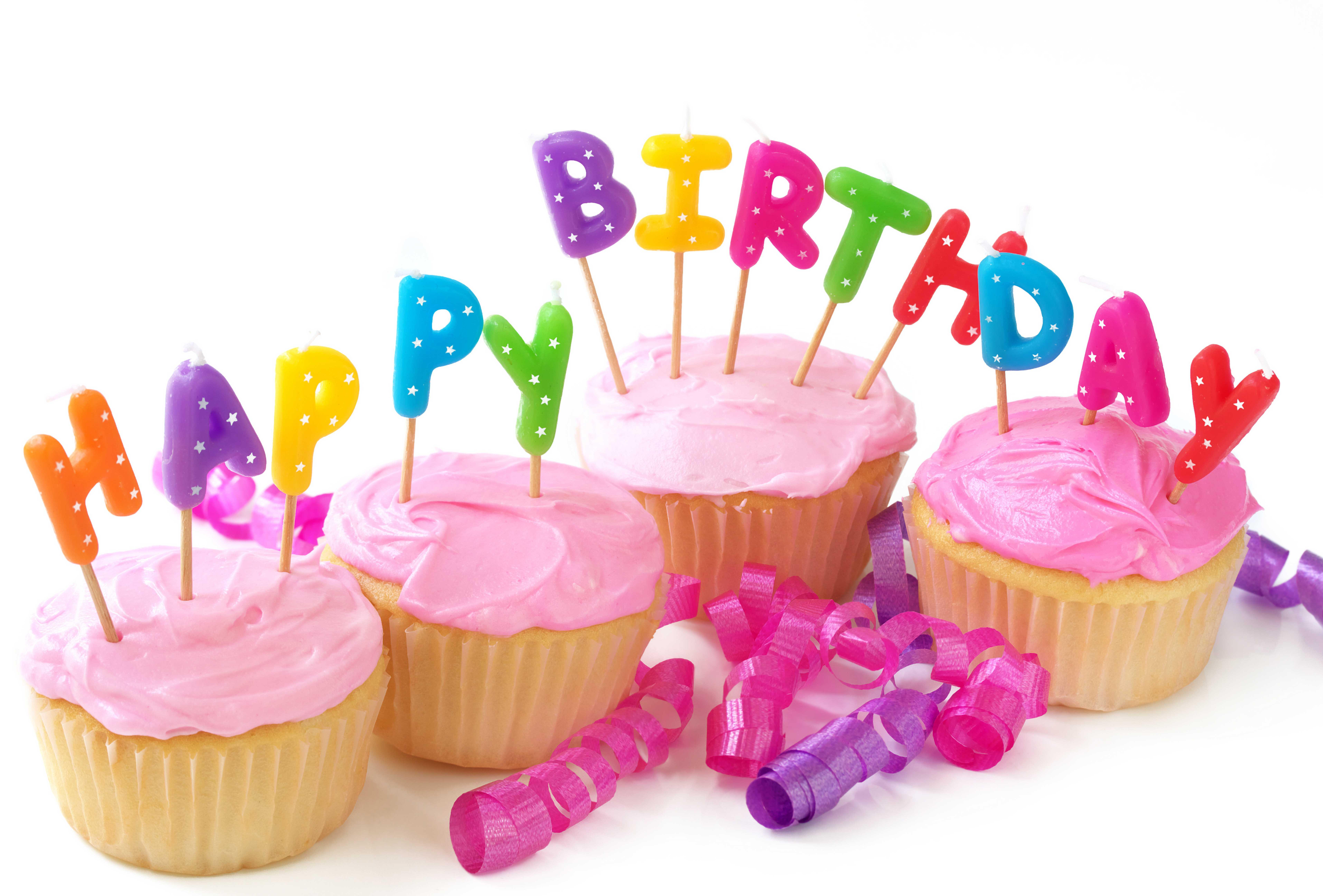 پیام برای تبریک گفتن افتتاحیه Happy Birthday Cupcakes - WallDevil