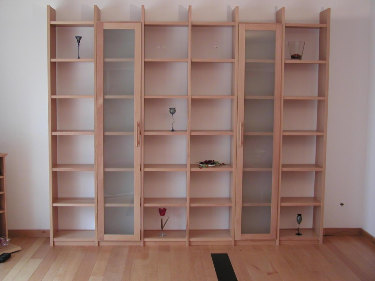 b cherregal wei lack regal b cherwand lackiert massivholz buche eiche ahorn ebay. Black Bedroom Furniture Sets. Home Design Ideas