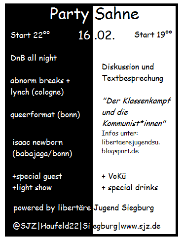 Partysahne-Flyer