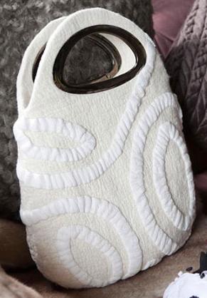 Фото МК.  Мастер класс по созданию войлочной сумки.  Мокрое валяние.