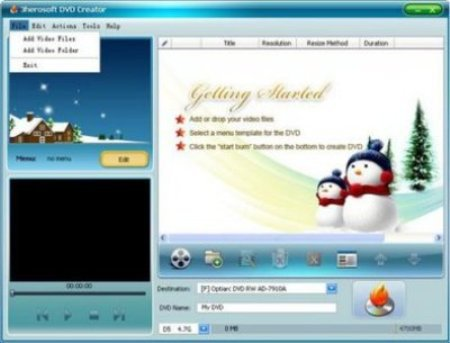 3herosoft DVD Creator 4.2.4 Build 0322