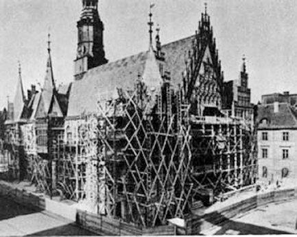 Wrocław  1945 Zniszczenia 123