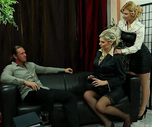 Mia Angel, Nathaly Cherie - Fully Clothed Fucking Is Our Business - FullyClothedSex/Tainster - (2013/FullHD/1080p/1.28 Gb)